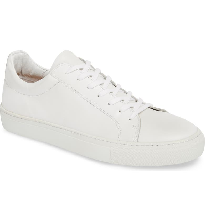 SUPPLY LAB Damian Lace-Up Sneaker, Main, color, WHITE LEATHER