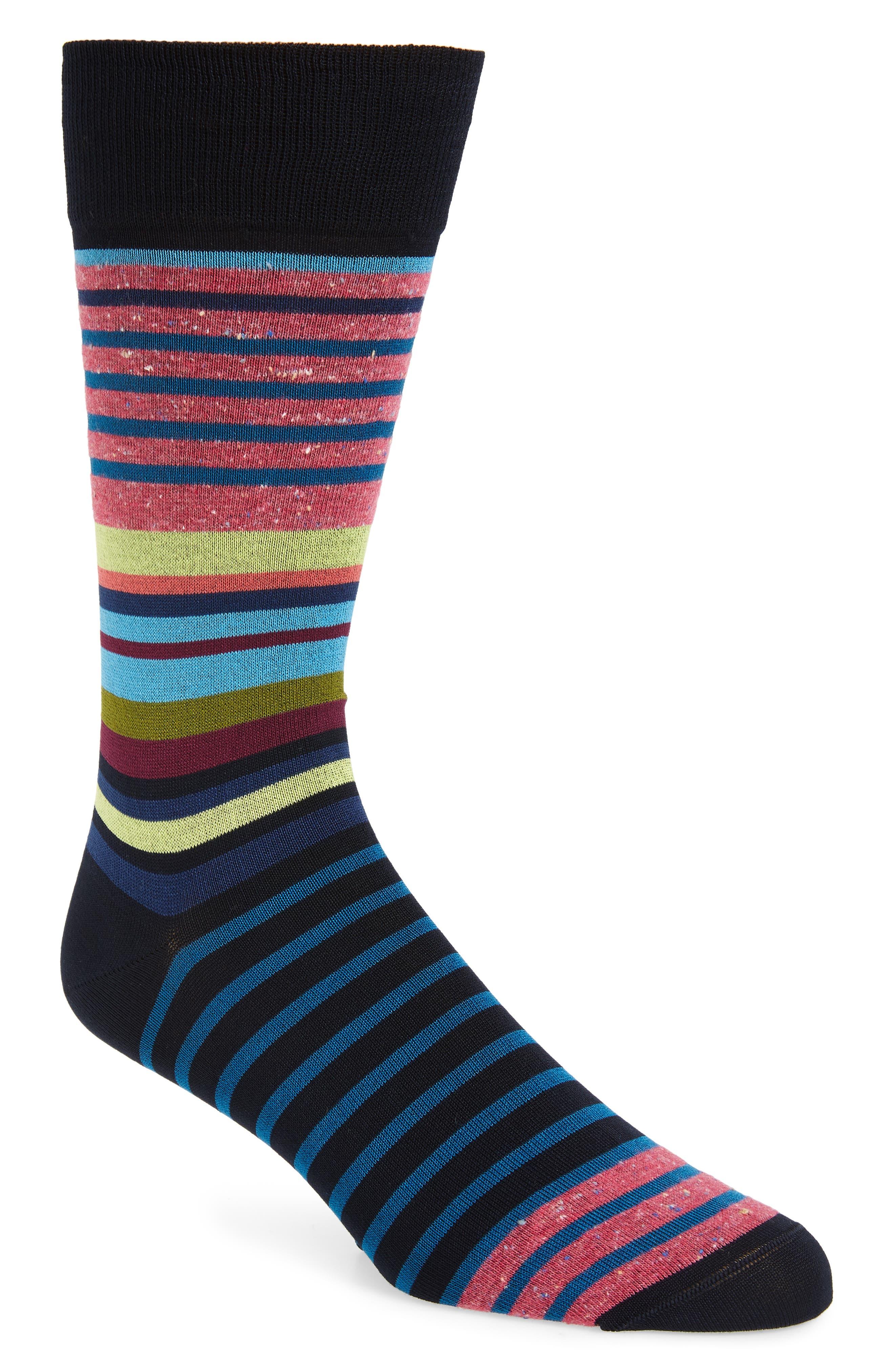men's bugatchi stripe socks