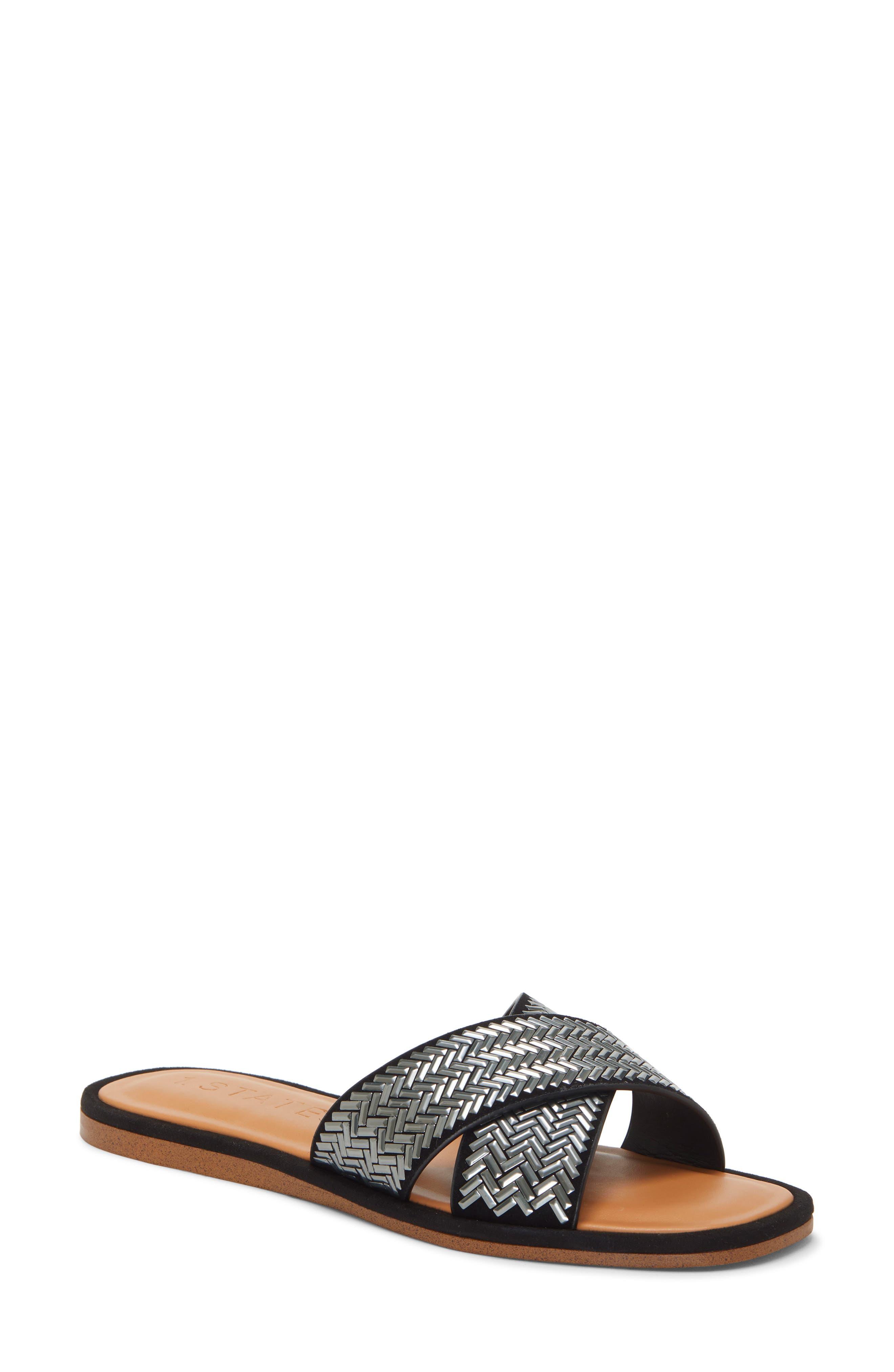1.state Gelsey Slide Sandal- Black