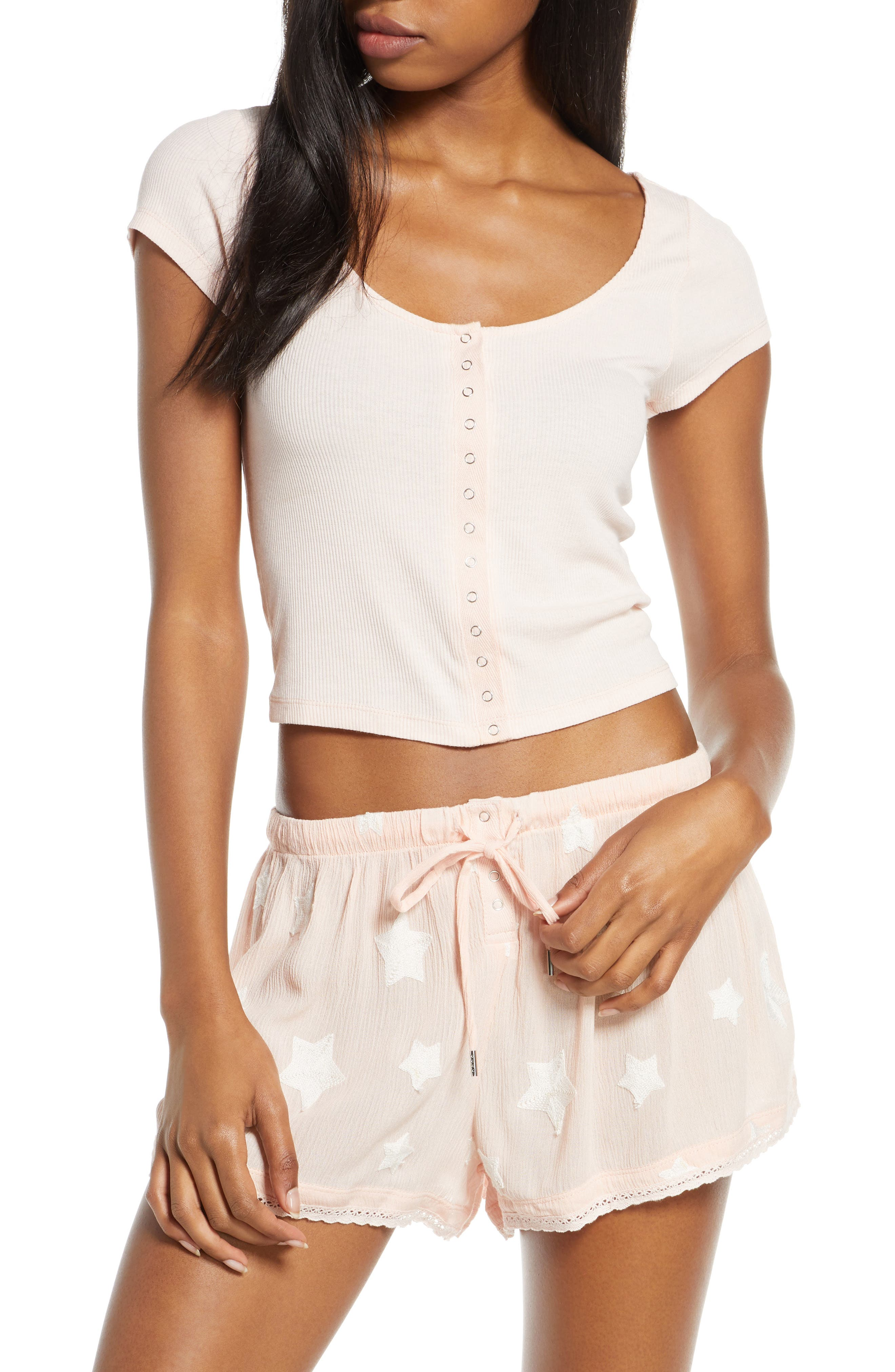 Honeydew Intimates Short Pajamas, Pink