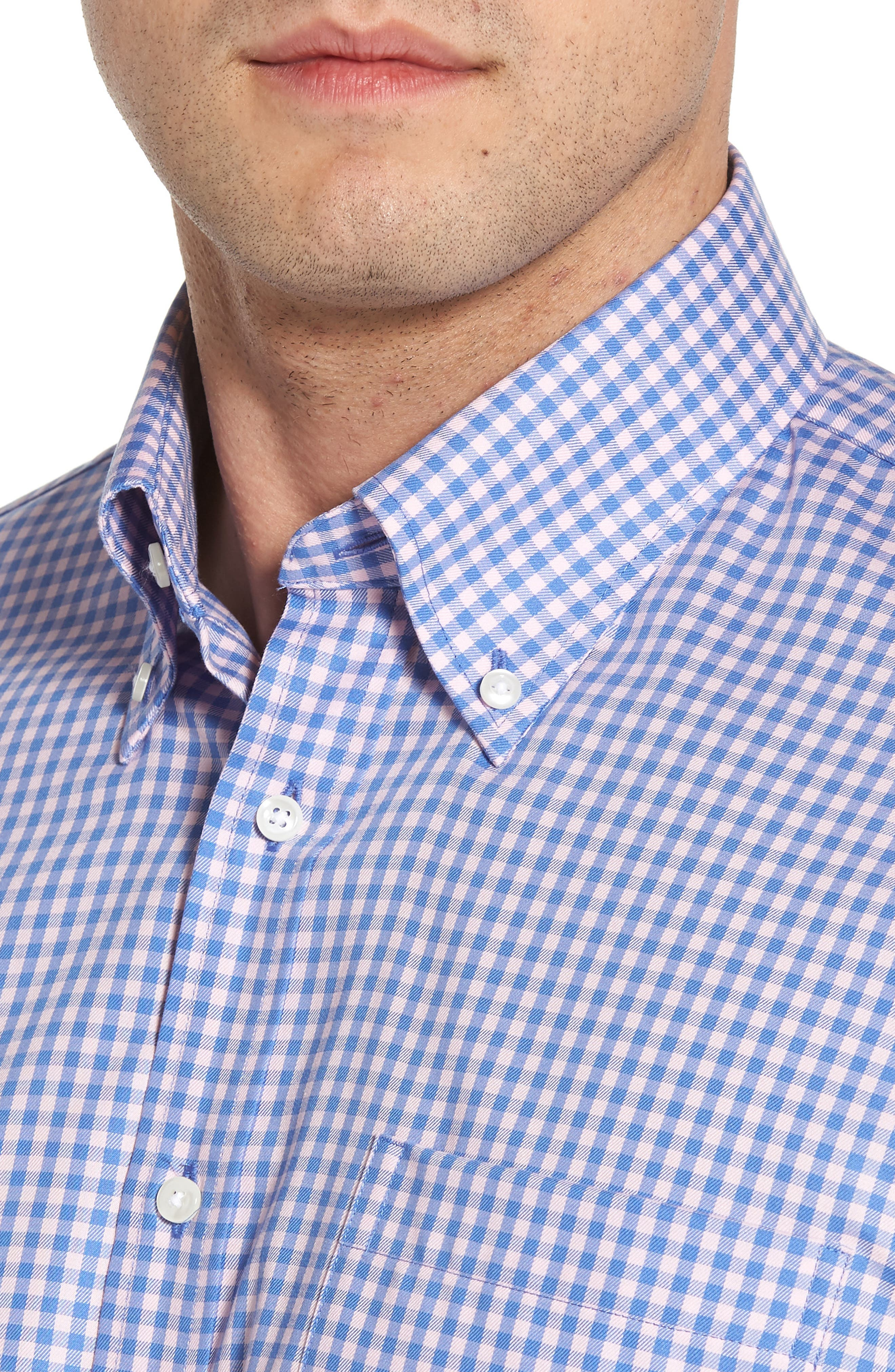 ,                             Traditional Fit Non-Iron Gingham Dress Shirt,                             Alternate thumbnail 28, color,                             650