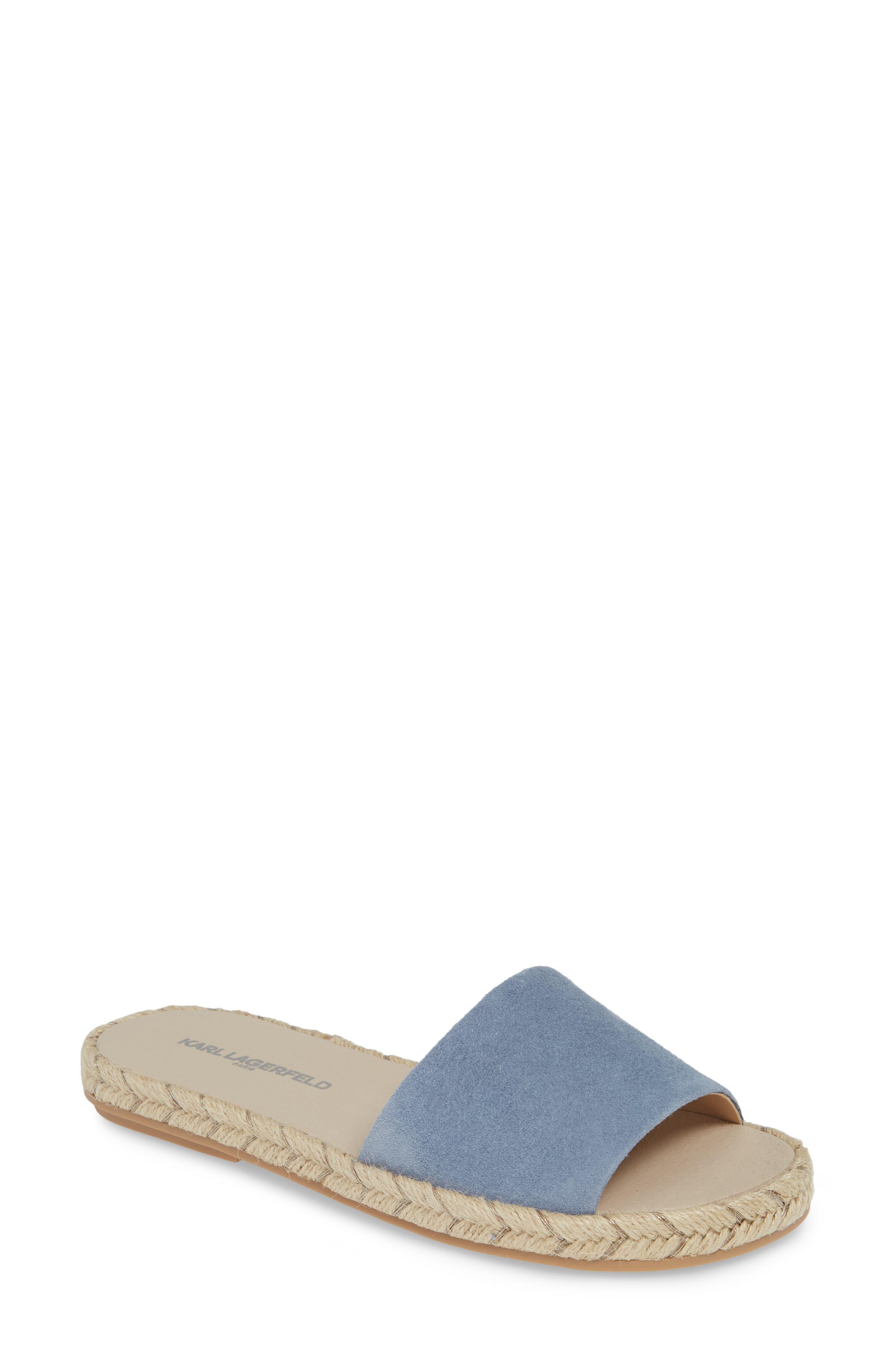 Karl Lagerfeld Paris Niya Slide Sandal, Blue