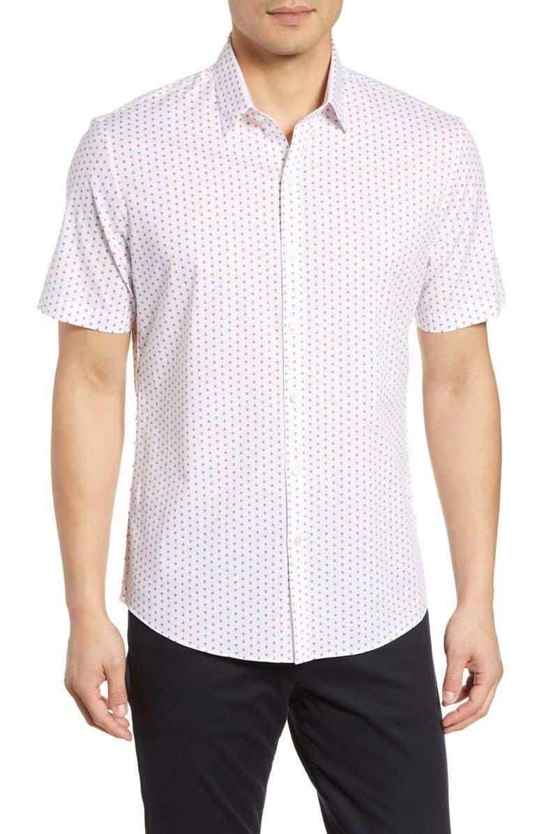 ZACHARY PRELL Dees Regular Fit Sport Shirt, Main, color, 100