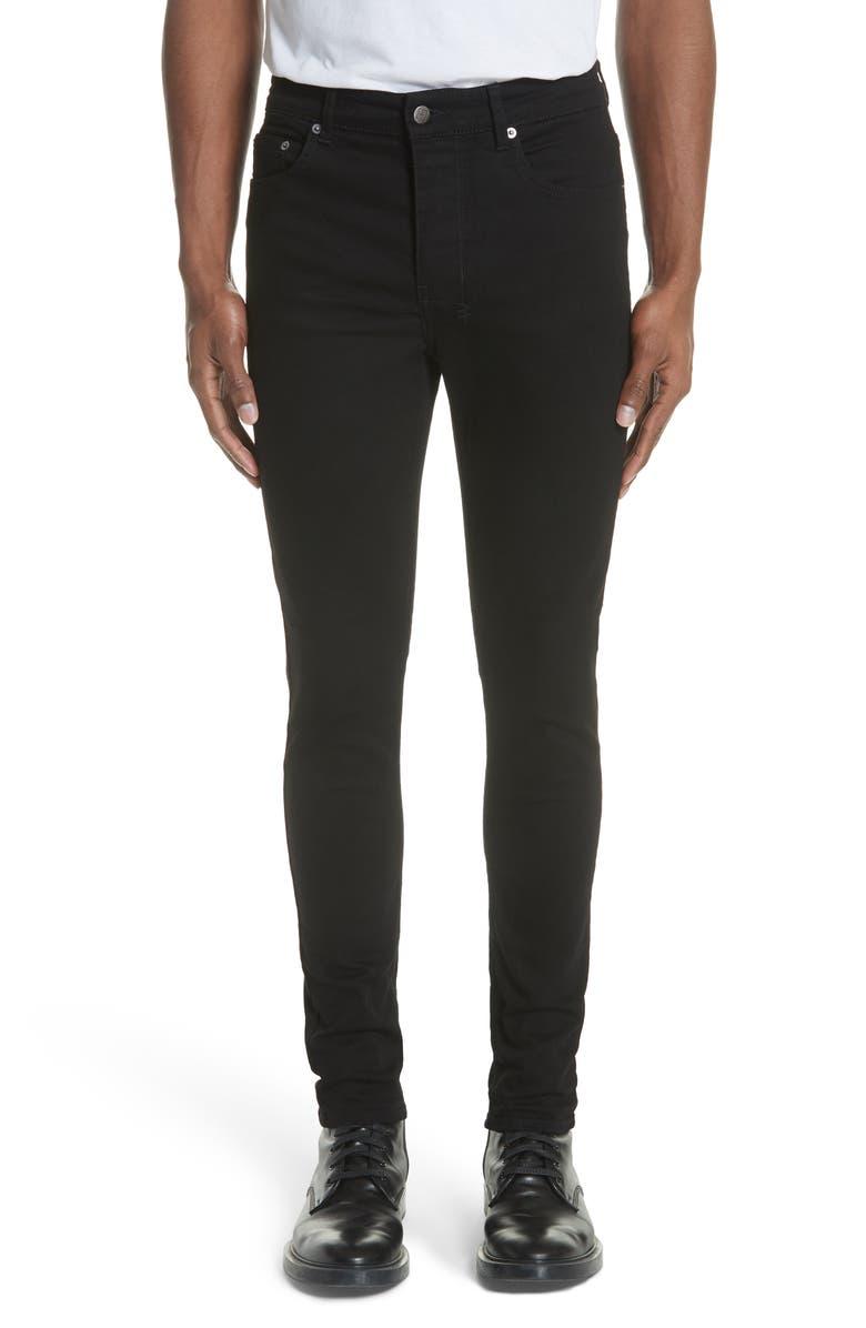 KSUBI Chitch Laid Skinny Fit Jeans, Main, color, BLACK