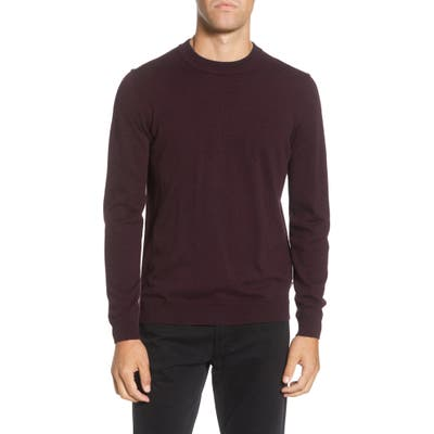 Boss Gaveno Regular Fit Virgin Wool Sweater, Burgundy
