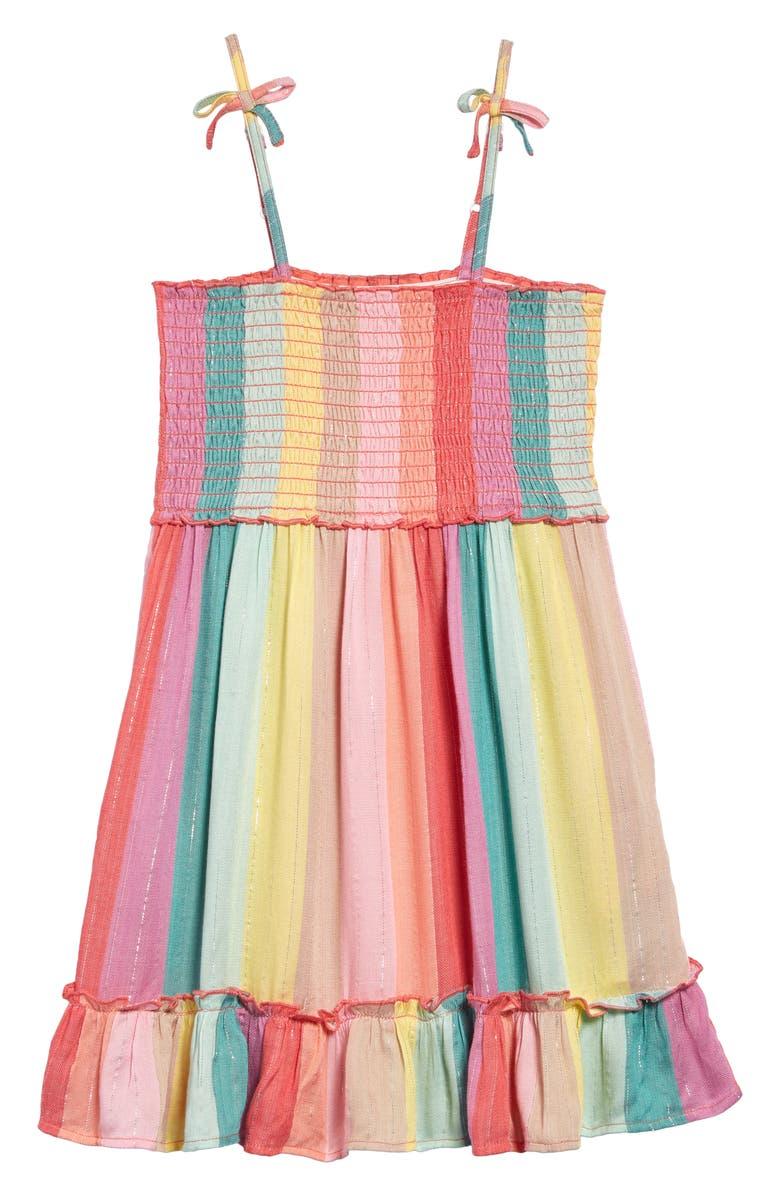 PEEK AREN'T YOU CURIOUS Baja Stripe Dress, Main, color, MULTI