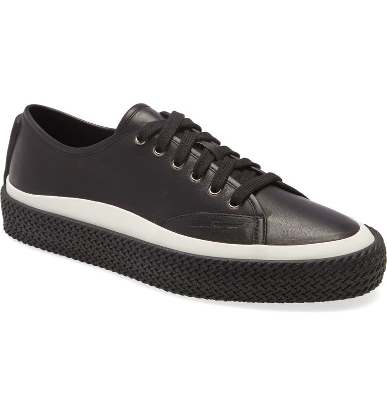 SALVATORE FERRAGAMO Storm Low Top Sneaker, Main, color, NERO