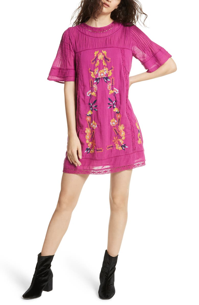 FREE PEOPLE 'Perfectly Victorian' Minidress, Main, color, 533