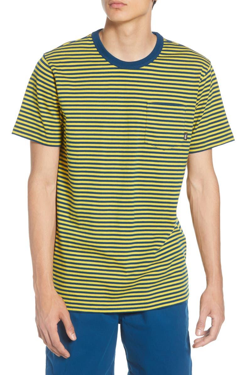 VANS Glenwood Stripe Pocket T-Shirt, Main, color, SULPHUR