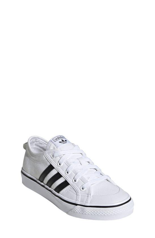 Adidas Originals Adidas Boys' Big Kids' Originals Nizza Casual Shoes In White / Black / White