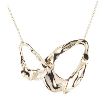 Alexis Bittar Retro Gold Collection Crumpled Link Necklace