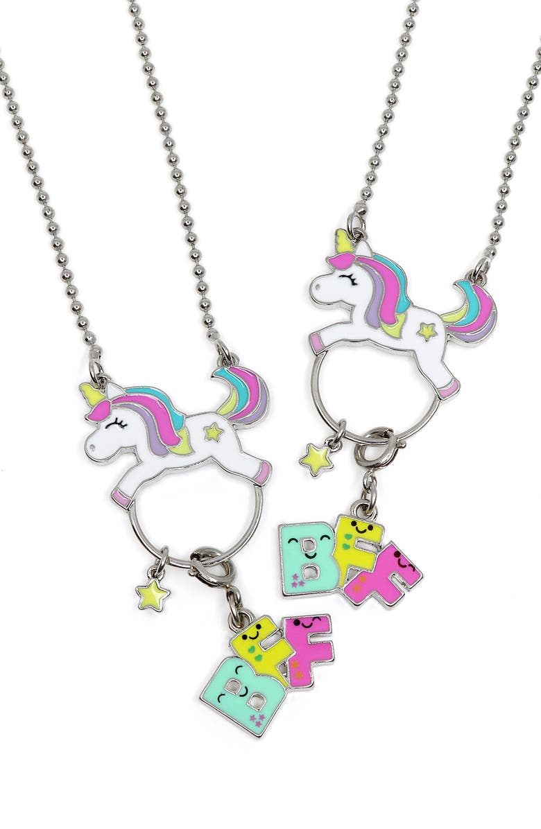 CHARM IT!<SUP>®</SUP> Two-Pack Unicorn Friendship Necklaces, Main, color, 960