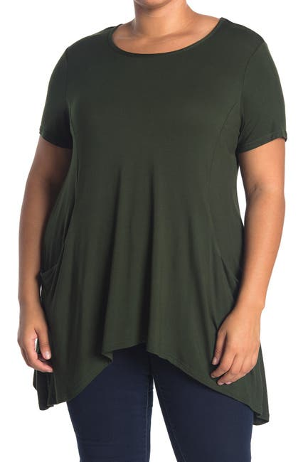 Image of RDI Short Sleeve Shark Bite Slouch Top