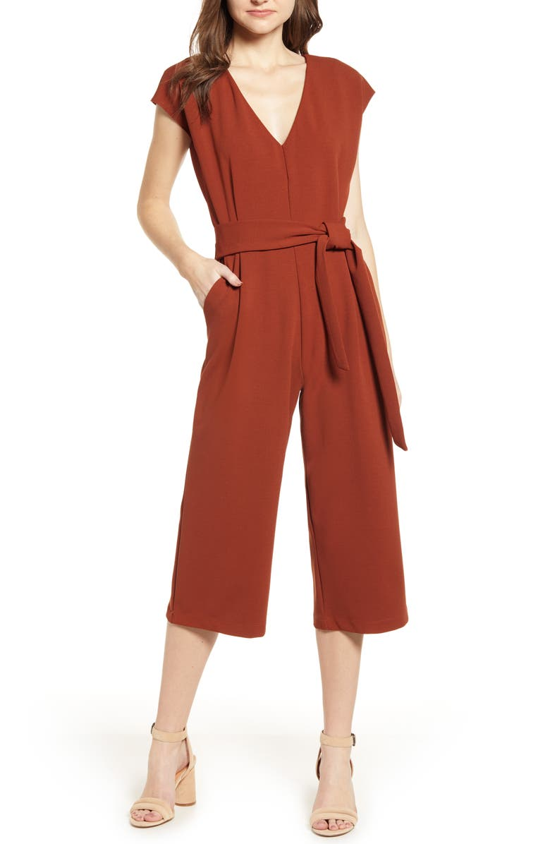 BISHOP + YOUNG Front Tie Jumpsuit, Main, color, 813