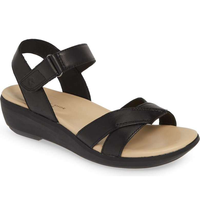 HUSH PUPPIES<SUP>®</SUP> Lyricale Wedge Sandal, Main, color, 001