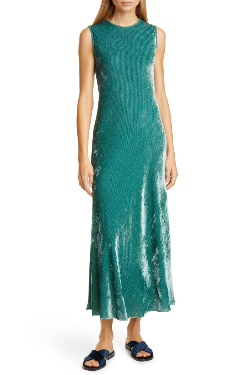 SIES MARJAN Viv Velvet Midi Dress, Main, color, 440