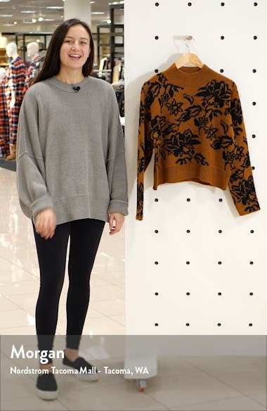 Floral Jacquard Sweater, sales video thumbnail