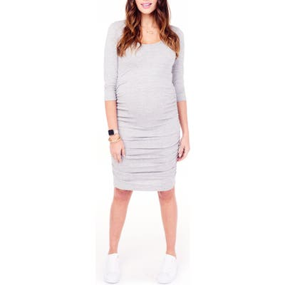 Ingrid & Isabel Shirred Maternity Dress, Grey