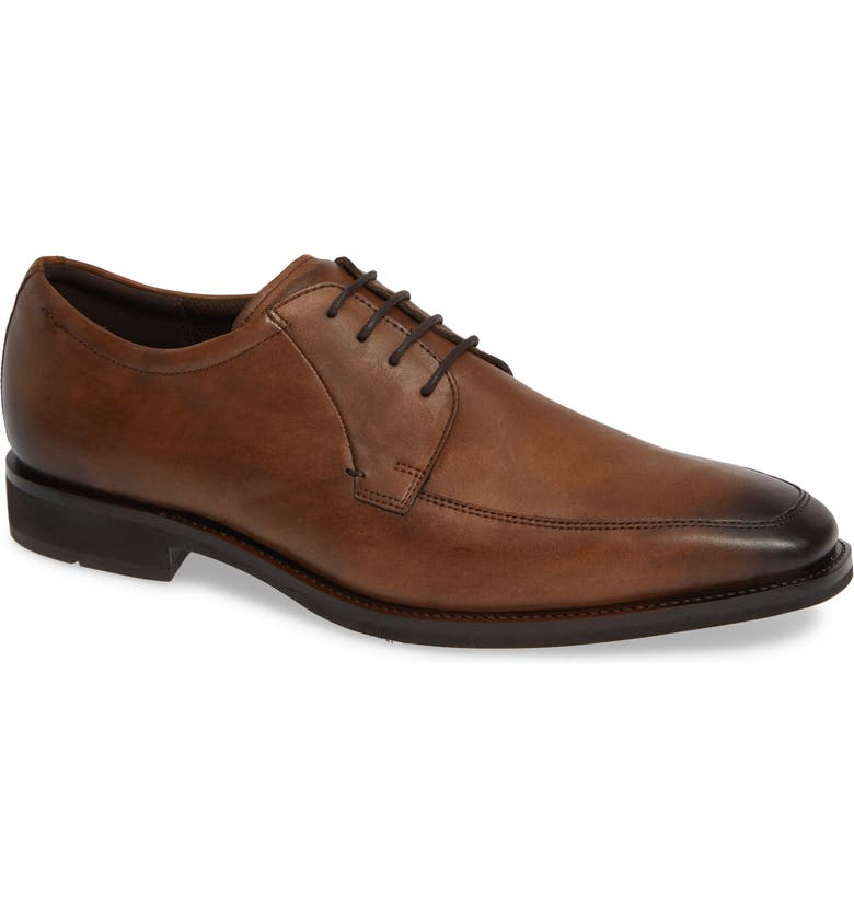 ECCO Calcan Apron Toe Derby, Main, color, AMBER LEATHER