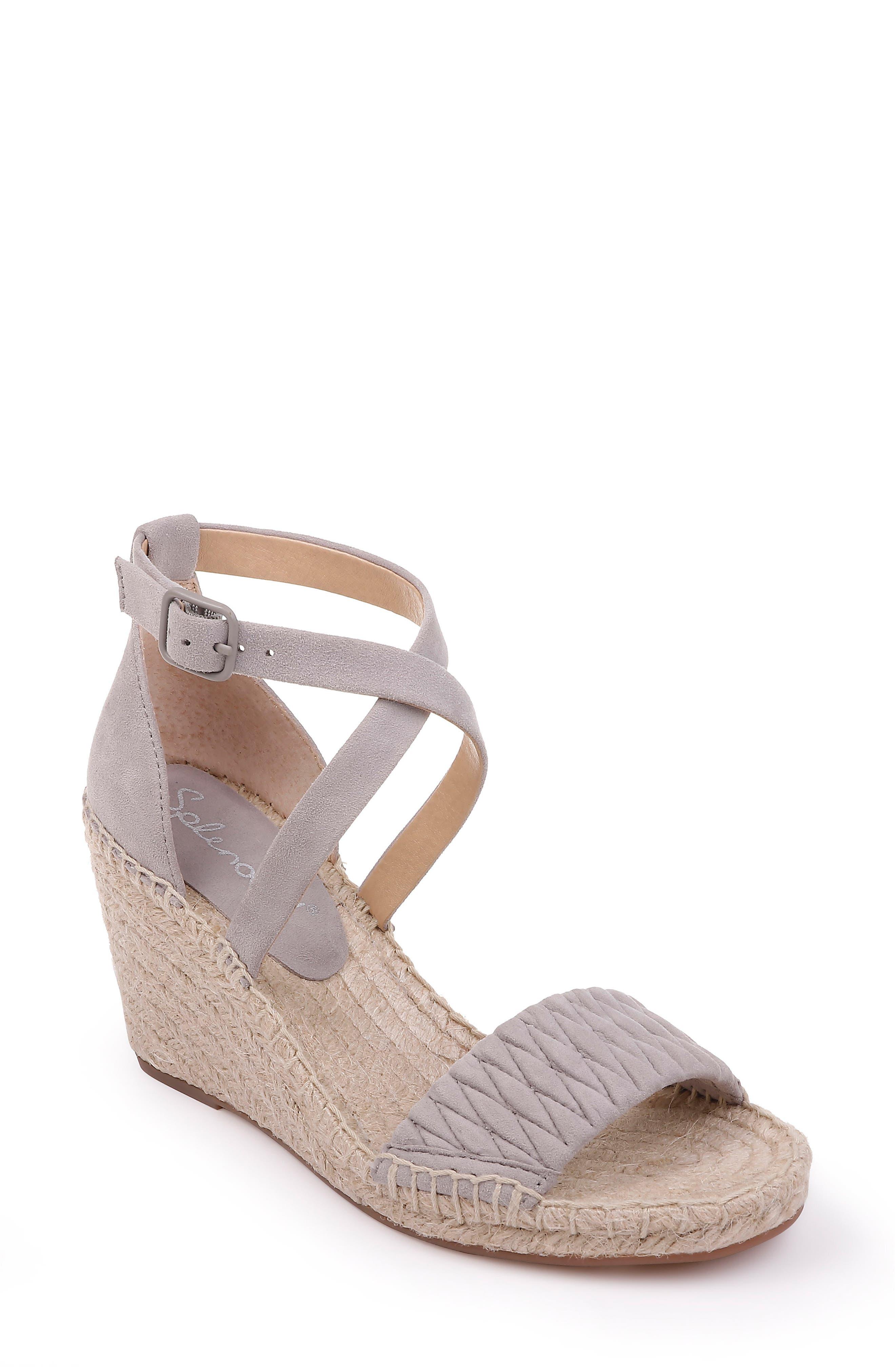 Splendid Sheri Wedge Espadrille Sandal- Grey