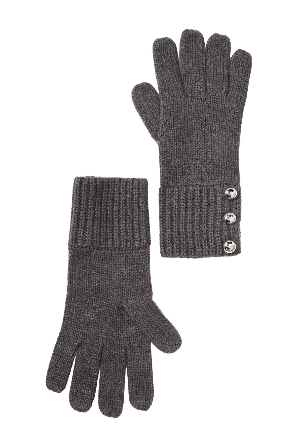 Image of Michael Kors Logo Dome Button Gloves
