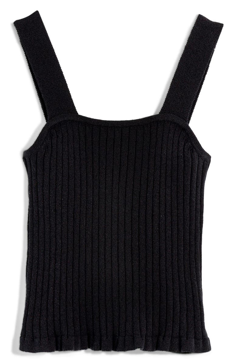 MADEWELL Tilney Ribbed Sweater Tank, Main, color, 001