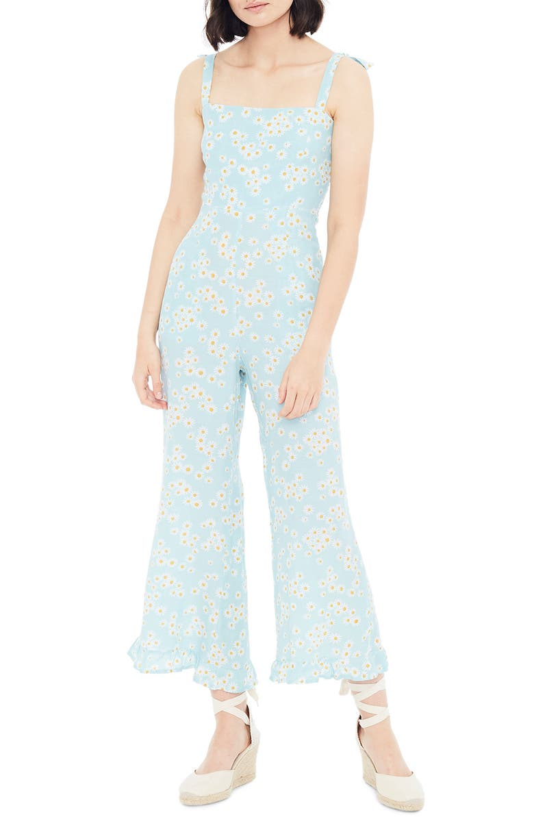 FAITHFULL THE BRAND Frankie Daisy Print Jumpsuit, Main, color, 401