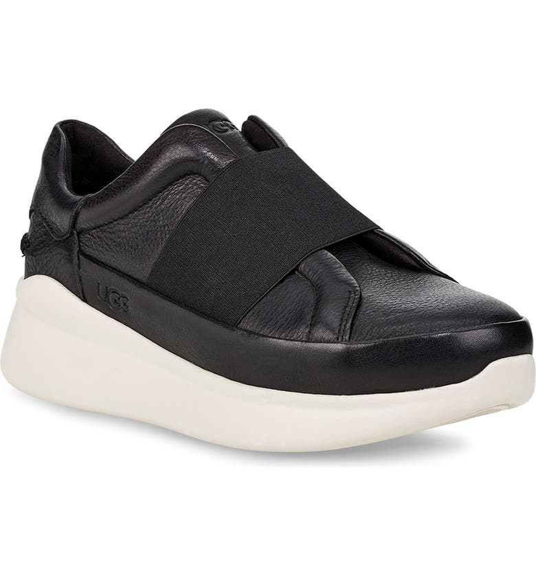 UGG<SUP>®</SUP> Libu Slip-On Sneaker, Main, color, BLACK LEATHER