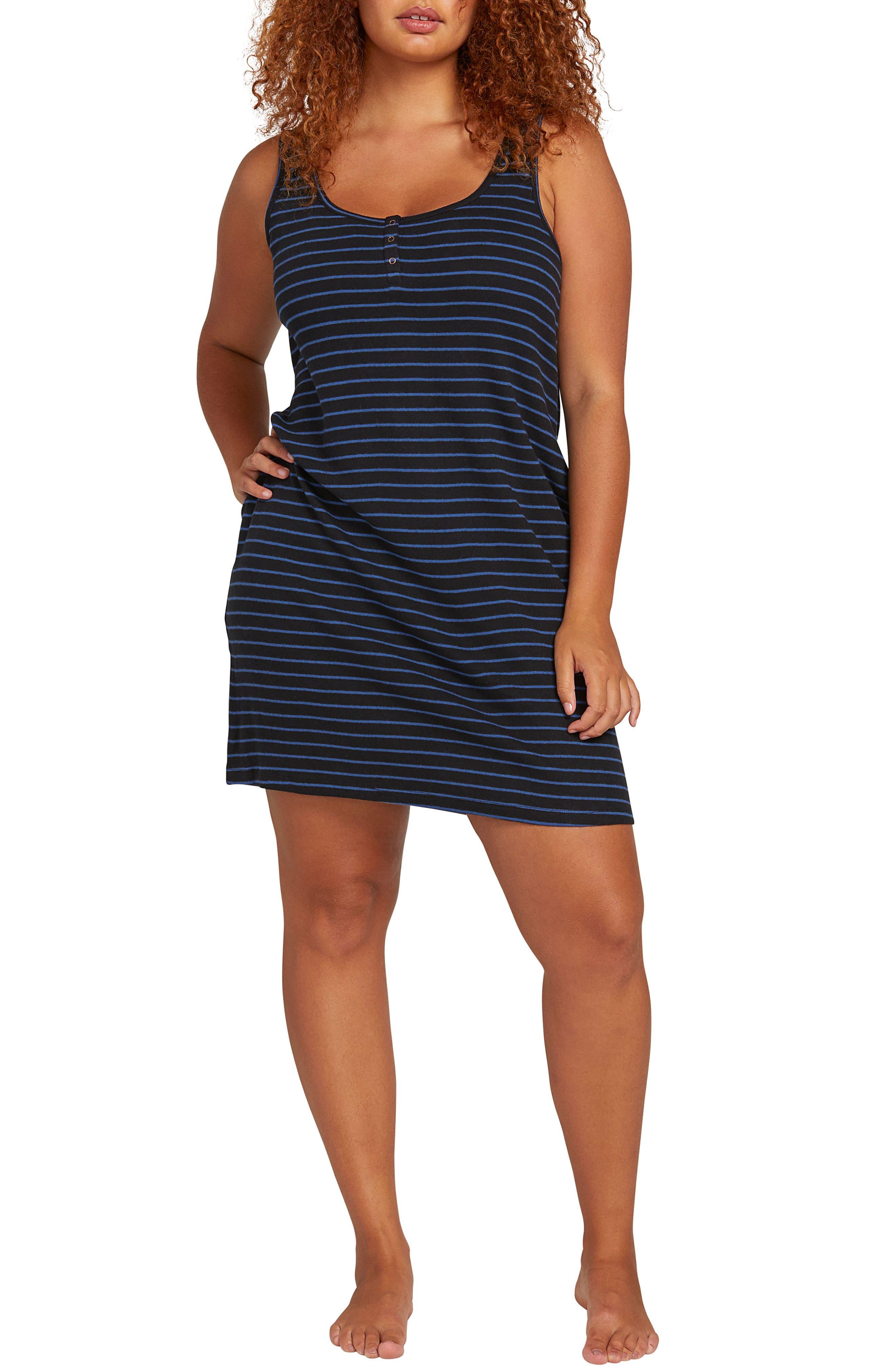 Plus Size Volcom Lil Stripe Minidress, Black