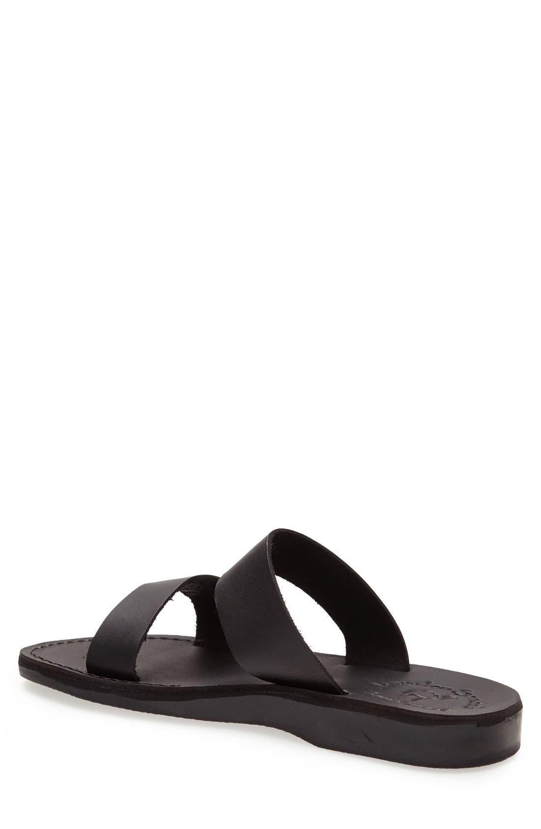 ,                             'Aviv' Leather Sandal,                             Alternate thumbnail 2, color,                             BLACK