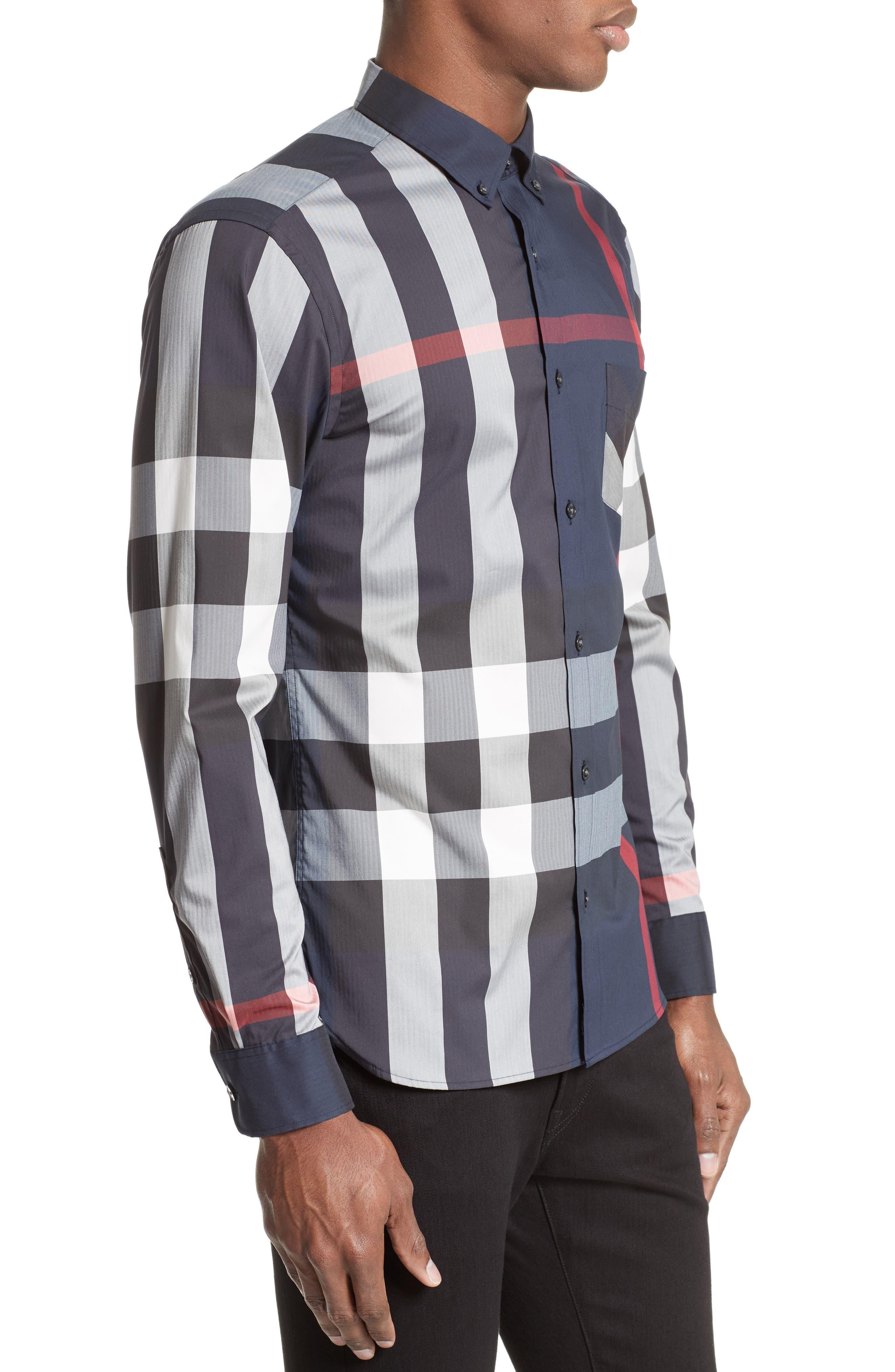 ,                             Thornaby Slim Fit Plaid Sport Shirt,                             Alternate thumbnail 26, color,                             410