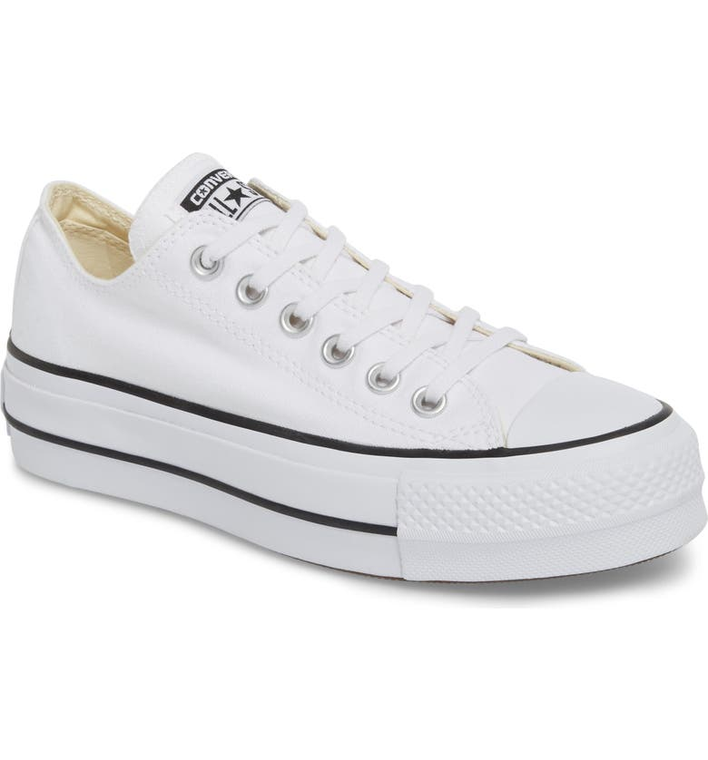 CONVERSE Chuck Taylor<sup>®</sup> All Star<sup>®</sup> Platform Sneaker, Main, color, WHITE/ BLACK/ WHITE