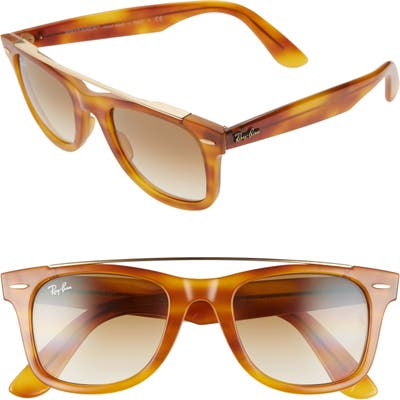 Ray-Ban 50Mm Gradient Square Sunglasses - Havana