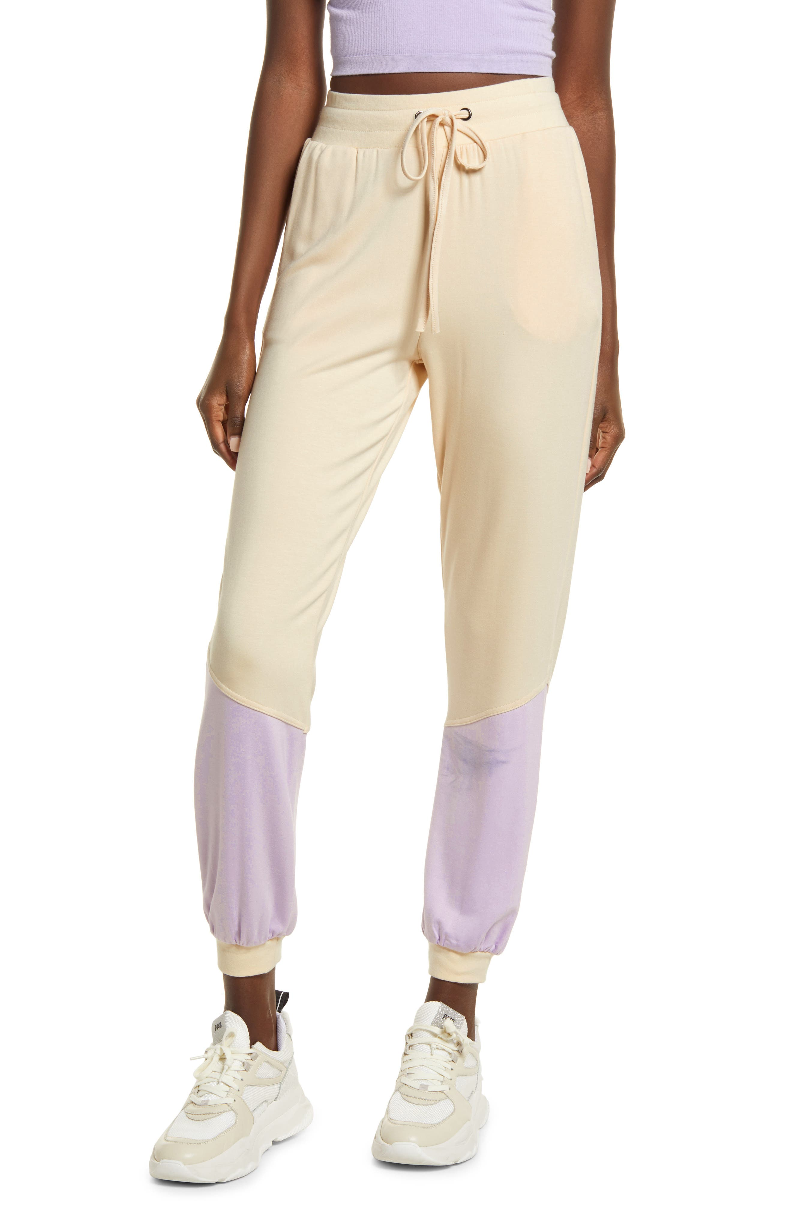 Women's Kendall + Kylie Colorblock Joggers