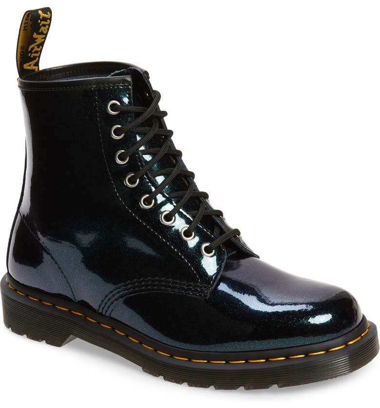 DR. MARTENS 1460 Sparkle Boot, Main, color, TEAL