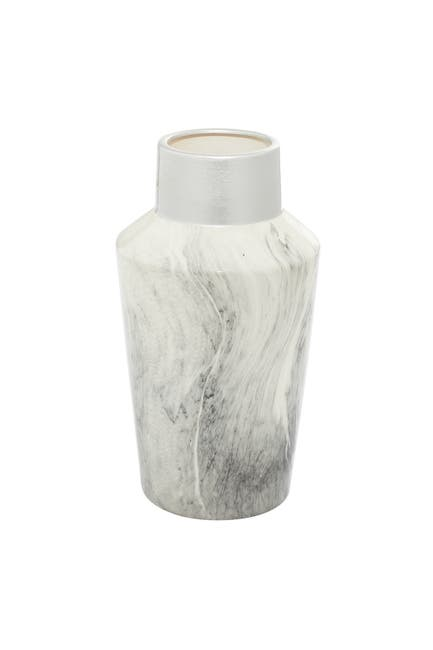 "Image of Willow Row Grey Stoneware Contemporary Vase - 14"" x 8"" x 8"""