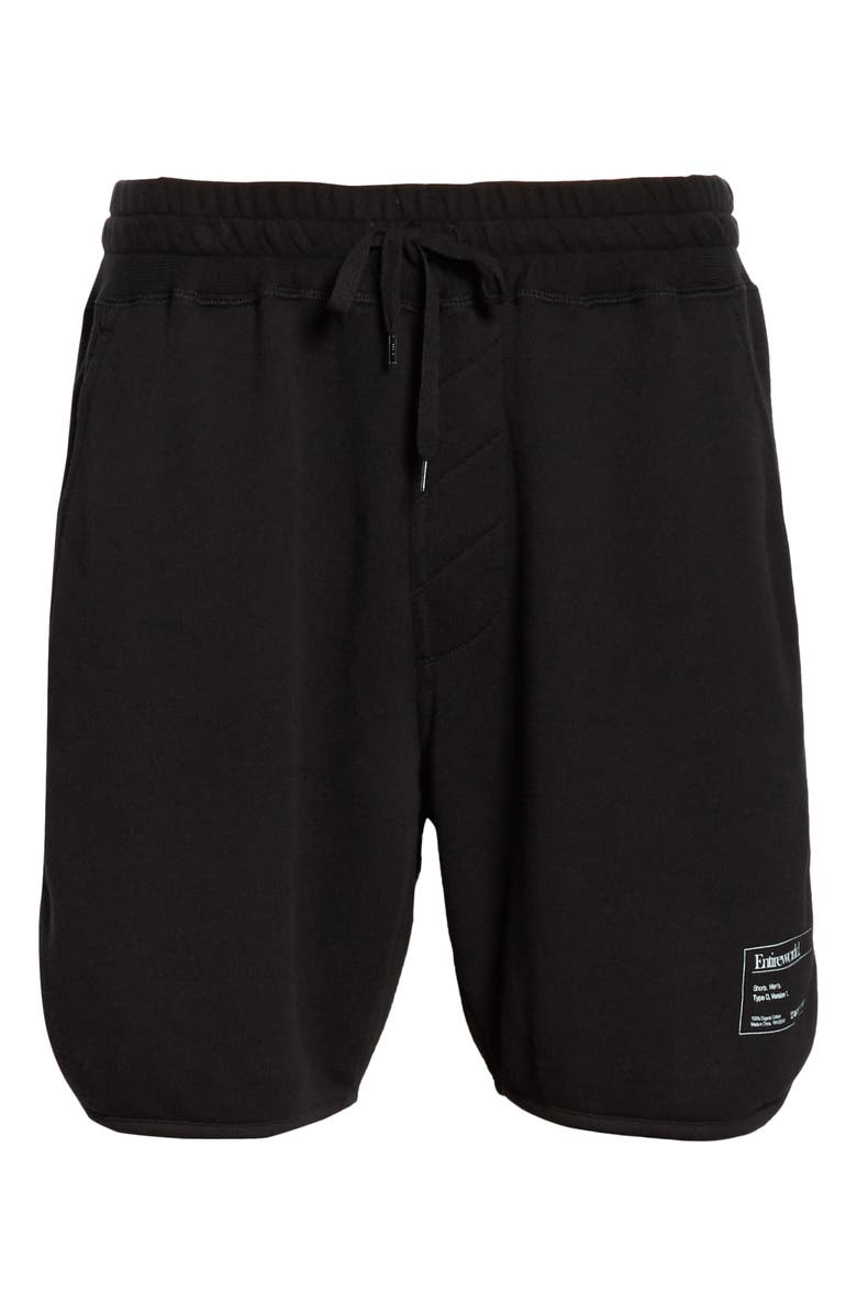 ENTIREWORLD French Terry Sweat Shorts, Main, color, BLACK