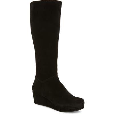 Chocolat Blu Yiga Knee High Wedge Boot- Black