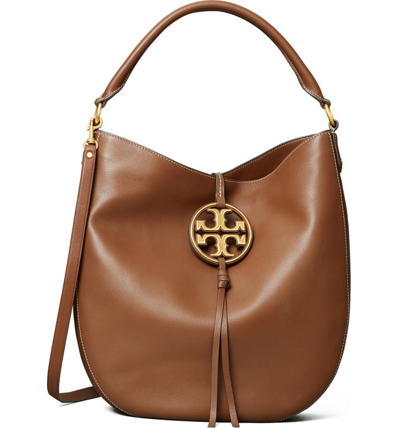 TORY BURCH Miller Leather Hobo Bag, Main, color, 242
