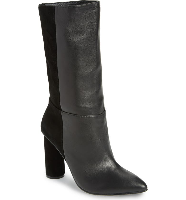 42 GOLD Kolby Boot, Main, color, BLACK LEATHER