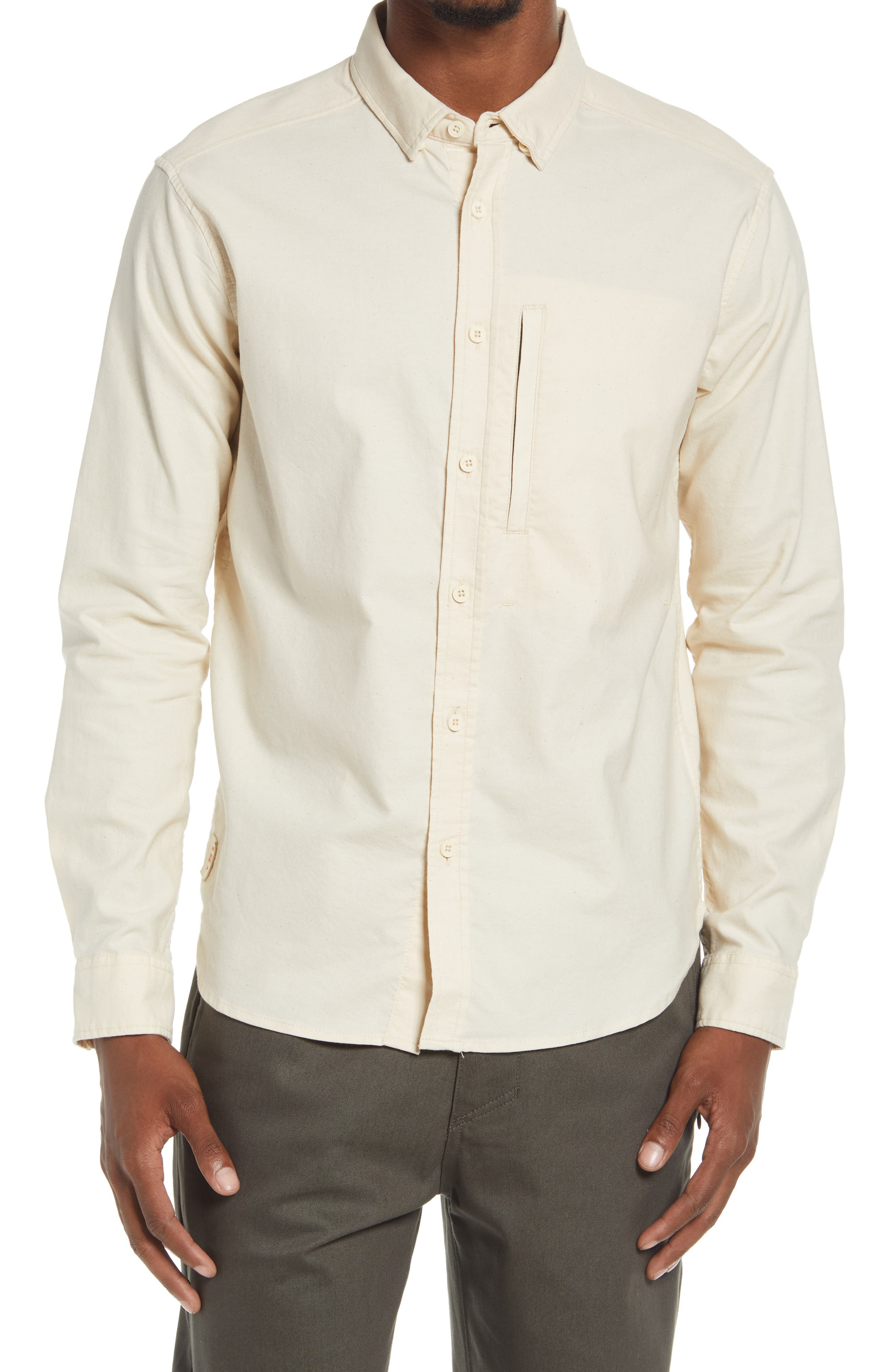 Foundation Button-Up Water Repellent Organic Cotton Shirt