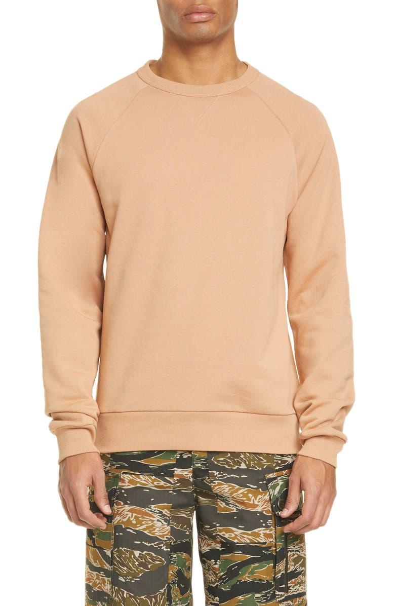 DRIES VAN NOTEN Hoskin Crewneck Sweatshirt, Main, color, BLUSH
