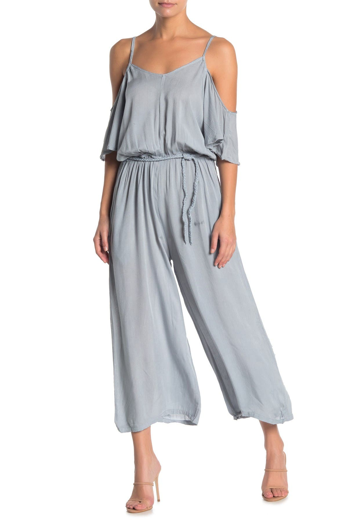 Image of BOHO ME Cold Shoulder Jumpsuit
