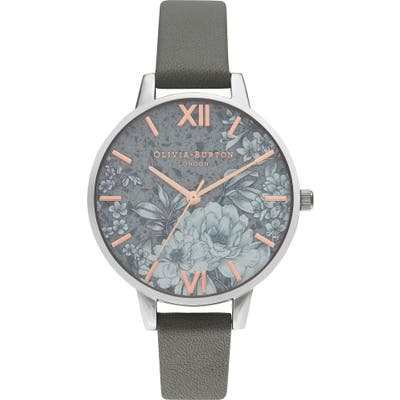 Olivia Burton Terrazzo Florals Faux Leather Strap Watch,