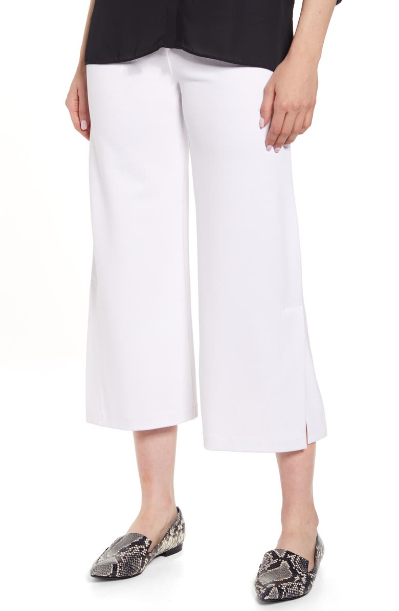 LYSSÉ Flare Vent Crop Wide Leg Pants, Main, color, WHITE