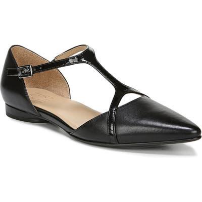 Naturalizer Hana Pointy Toe Flat, Black