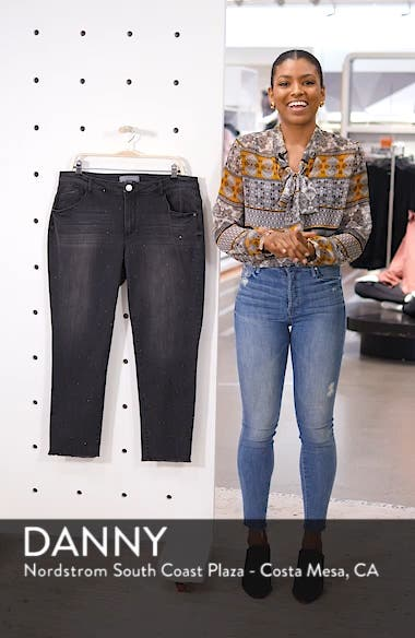 Ab-Solution Embellished Ankle Jeans, sales video thumbnail
