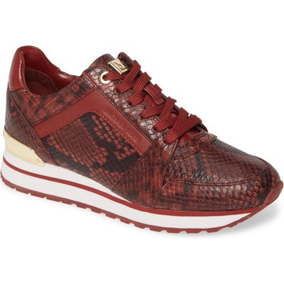 Michael Michael Kors Billie Perforated Sneaker- Burgundy