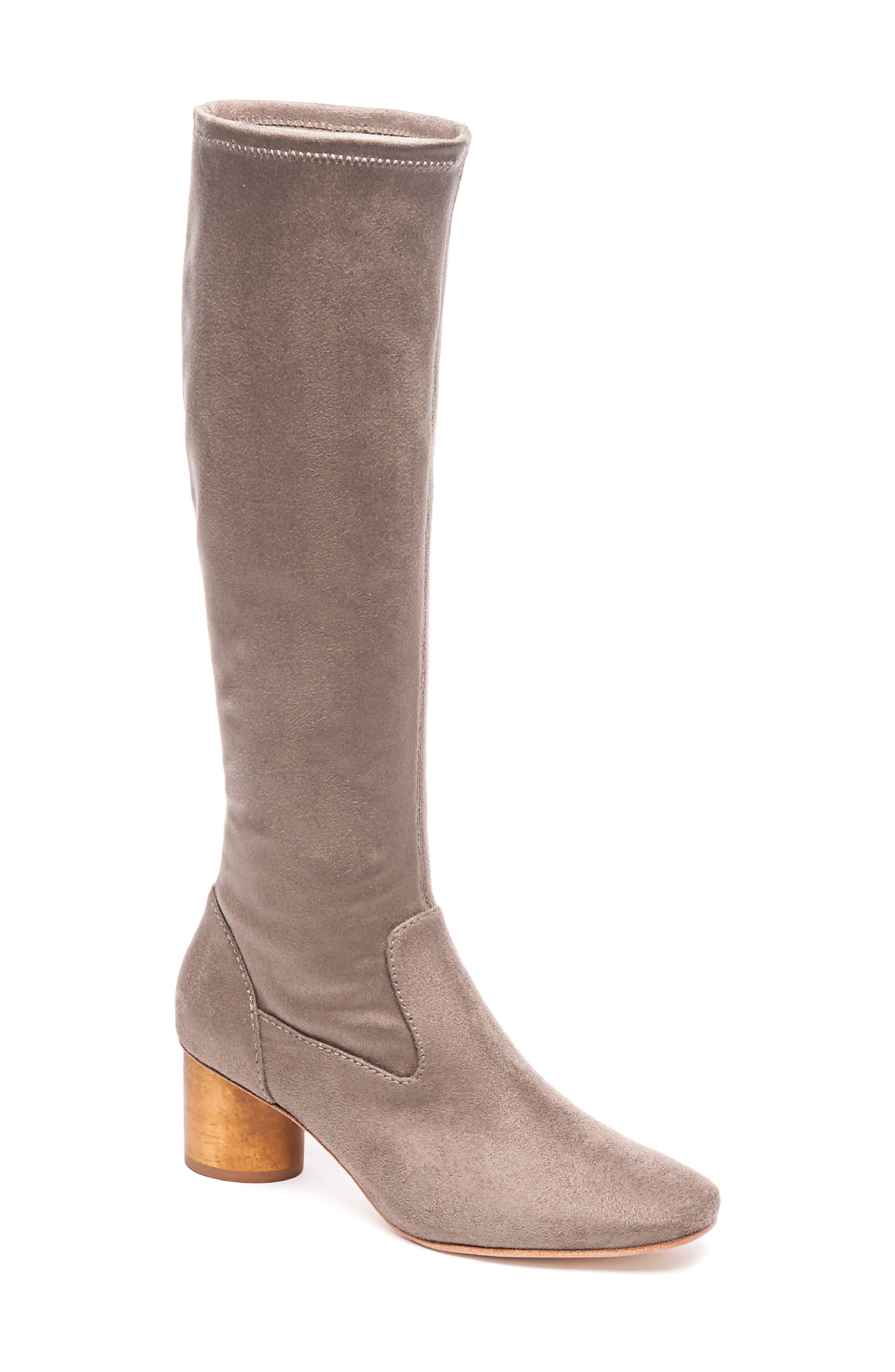 Bernardo Knee High Boot- Beige