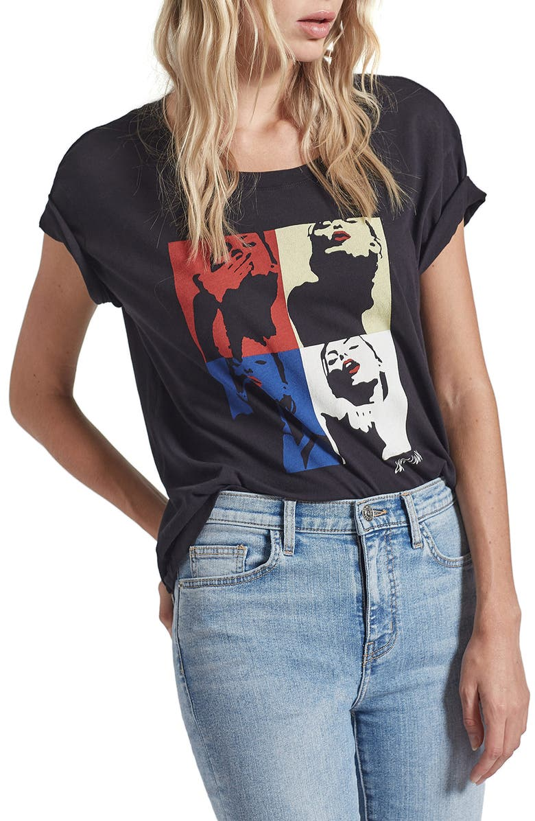 CURRENT/ELLIOTT The Relaxed Amour Graphic Tee, Main, color, CAVIAR W KISS G